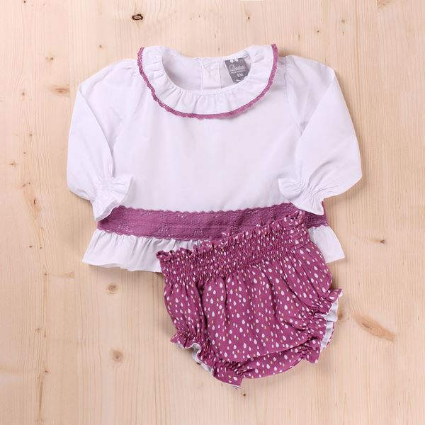 Picture of CONJUNTO MINI LLUVIA CON PUNTILLA