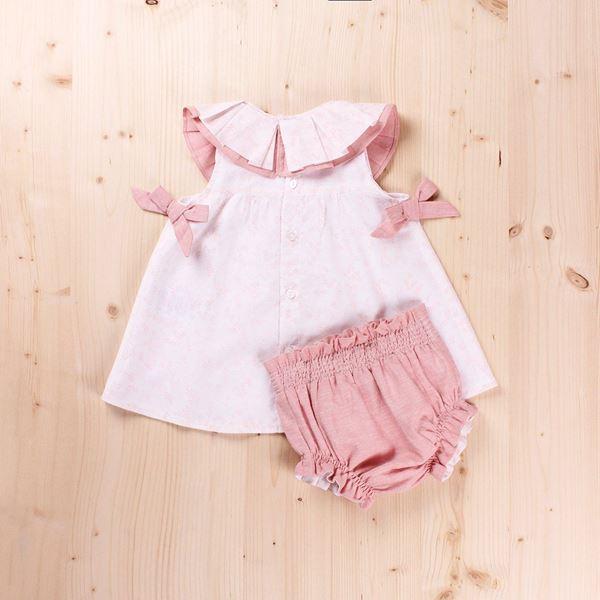 Imagen de Vestido Bebé cuello volante y braguita