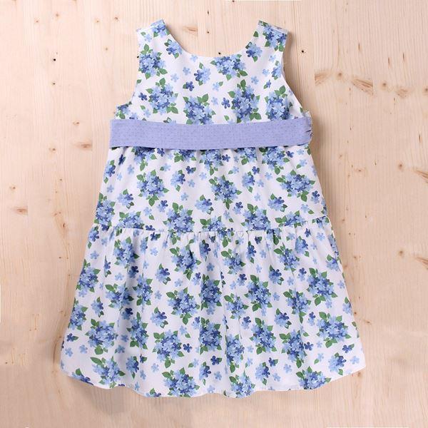 Imagen de Vestido Junior dobby flores y lazo