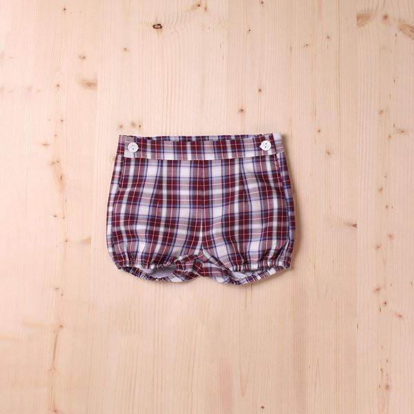 Image de SHORT CUADROS RED VELVET