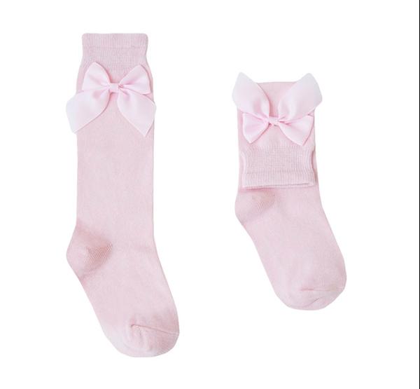 Image de Calcetín rosa con lazo