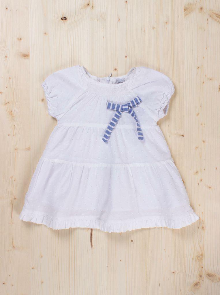 Imagen de Vestido plumeti blanco bb