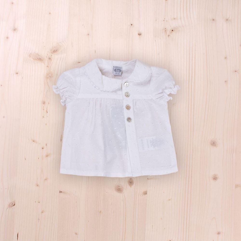 Imagen de Blanca de plumeti con botones bb