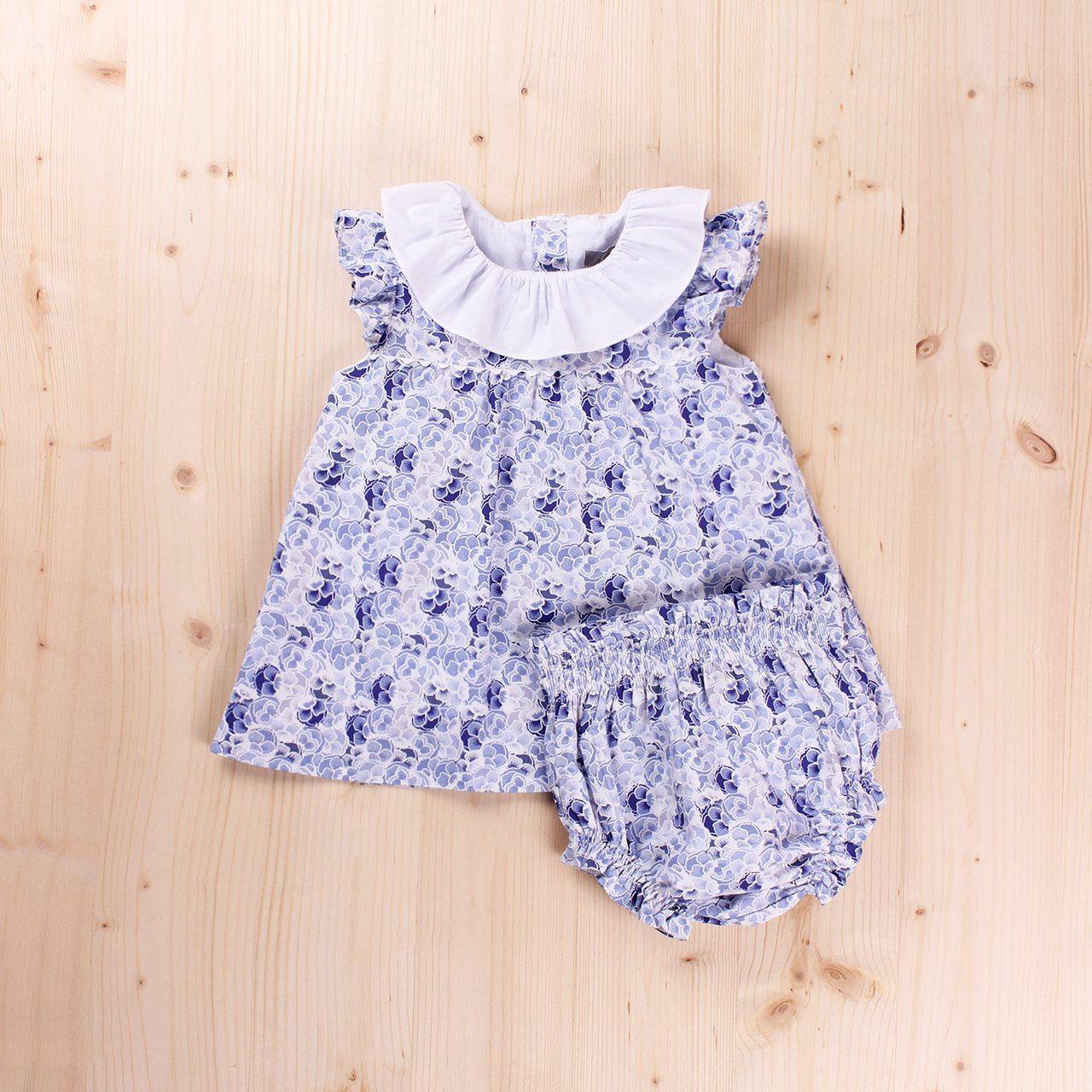 Imagen de Vestido bebé Pensamiento, con braguita