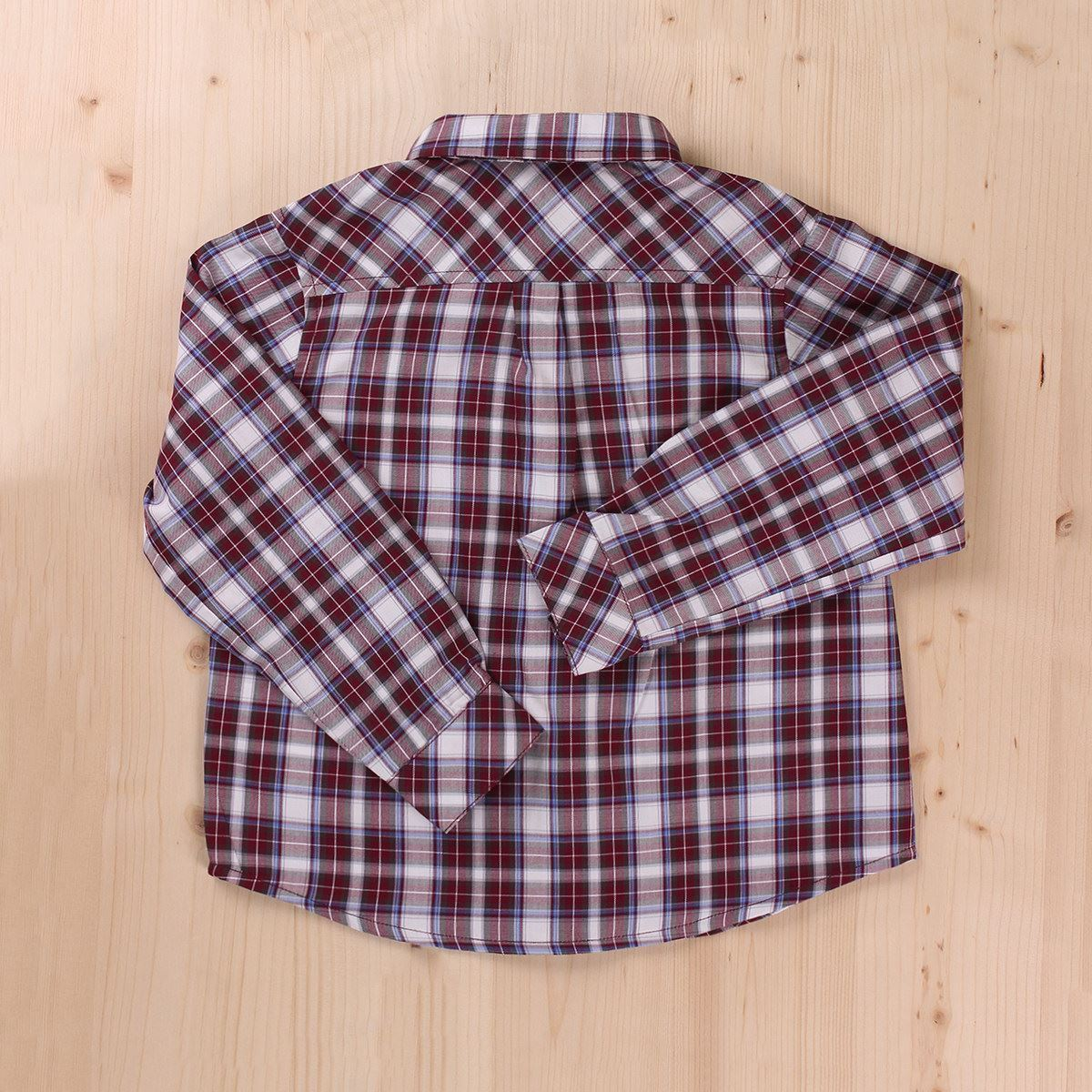 Picture of CAMISA CUADROS BURDEOS