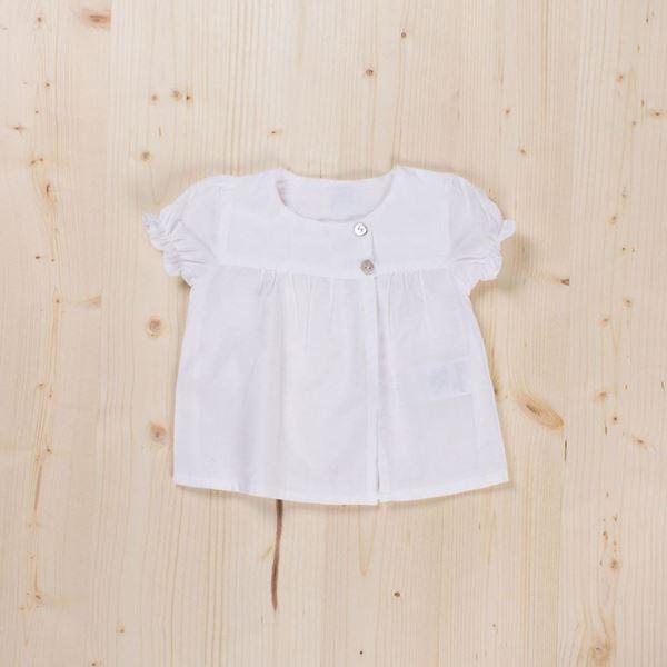 Picture of Blusa blanca con botones bb