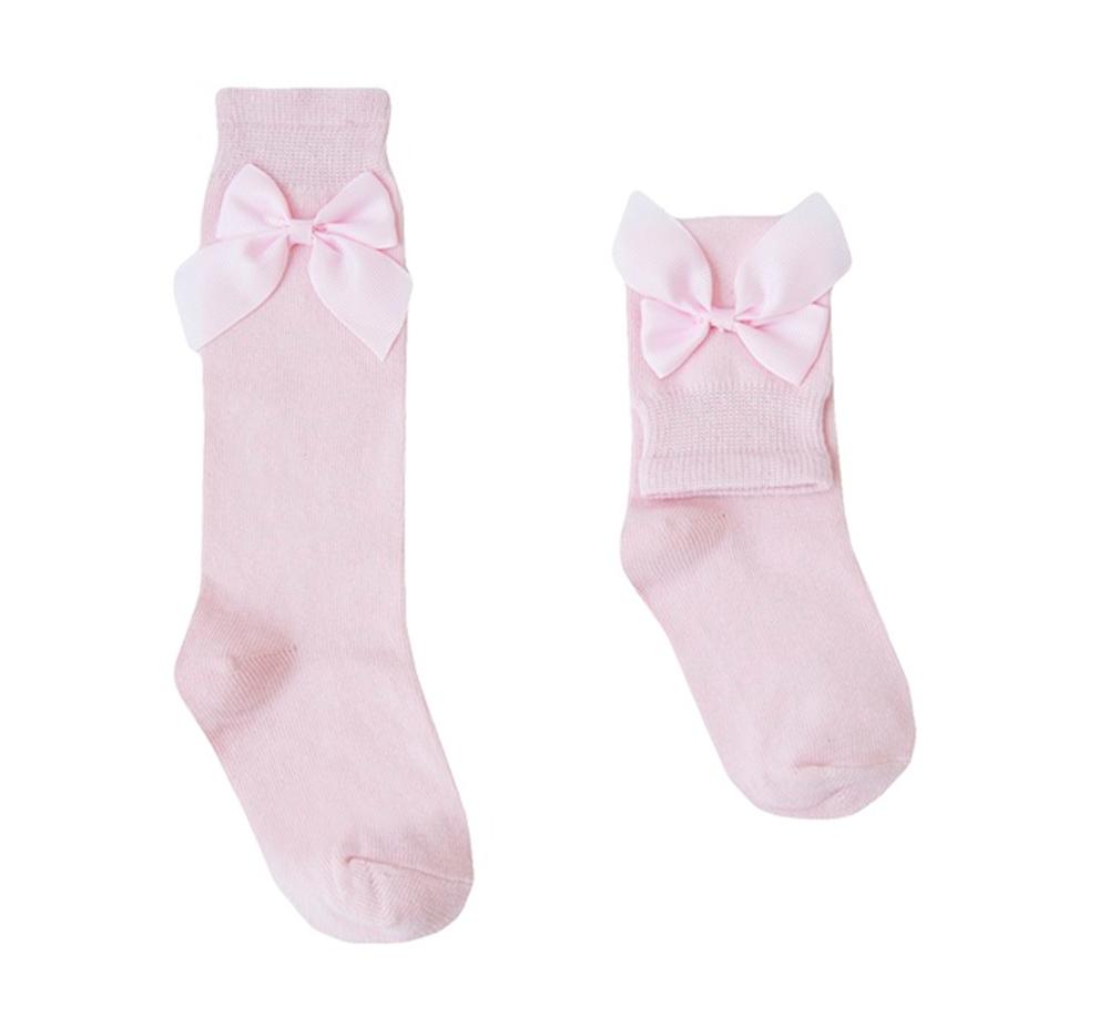 Imagen de Calcetín rosa con lazo