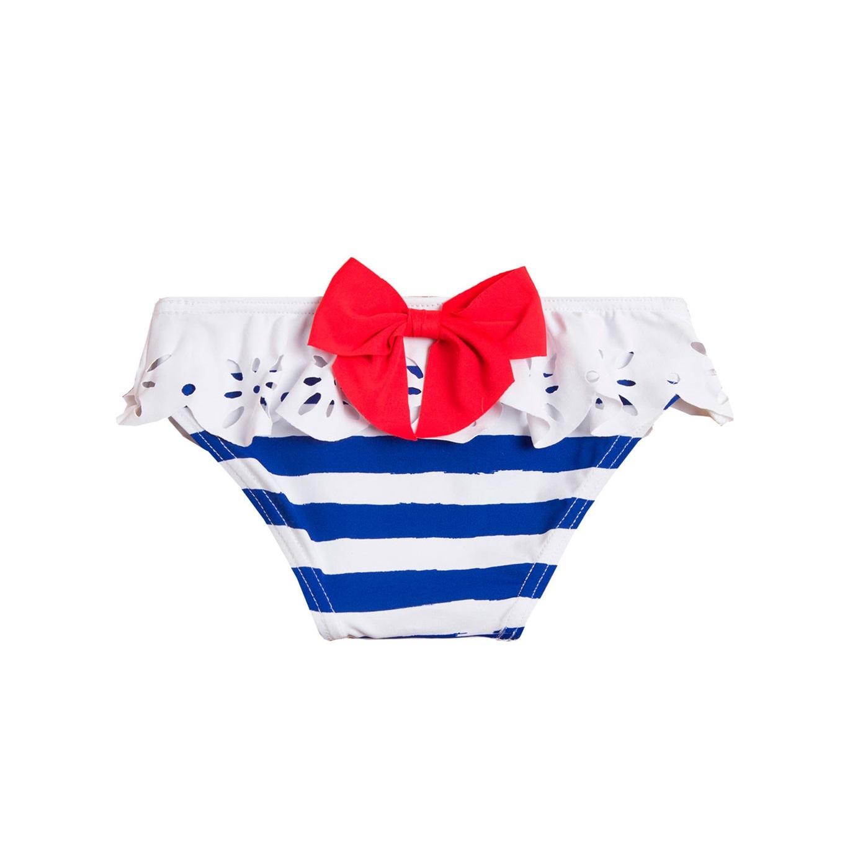 e6b79cabe Culetín de bebé niña de rayas marineras con lazo. Dadati - Moda infantil