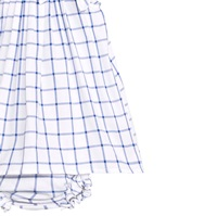 Imagen de Vestido de bebé niña de cuadros azules con braguita