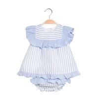 Imagen de Vestido de bebé niña de rayas con braguita