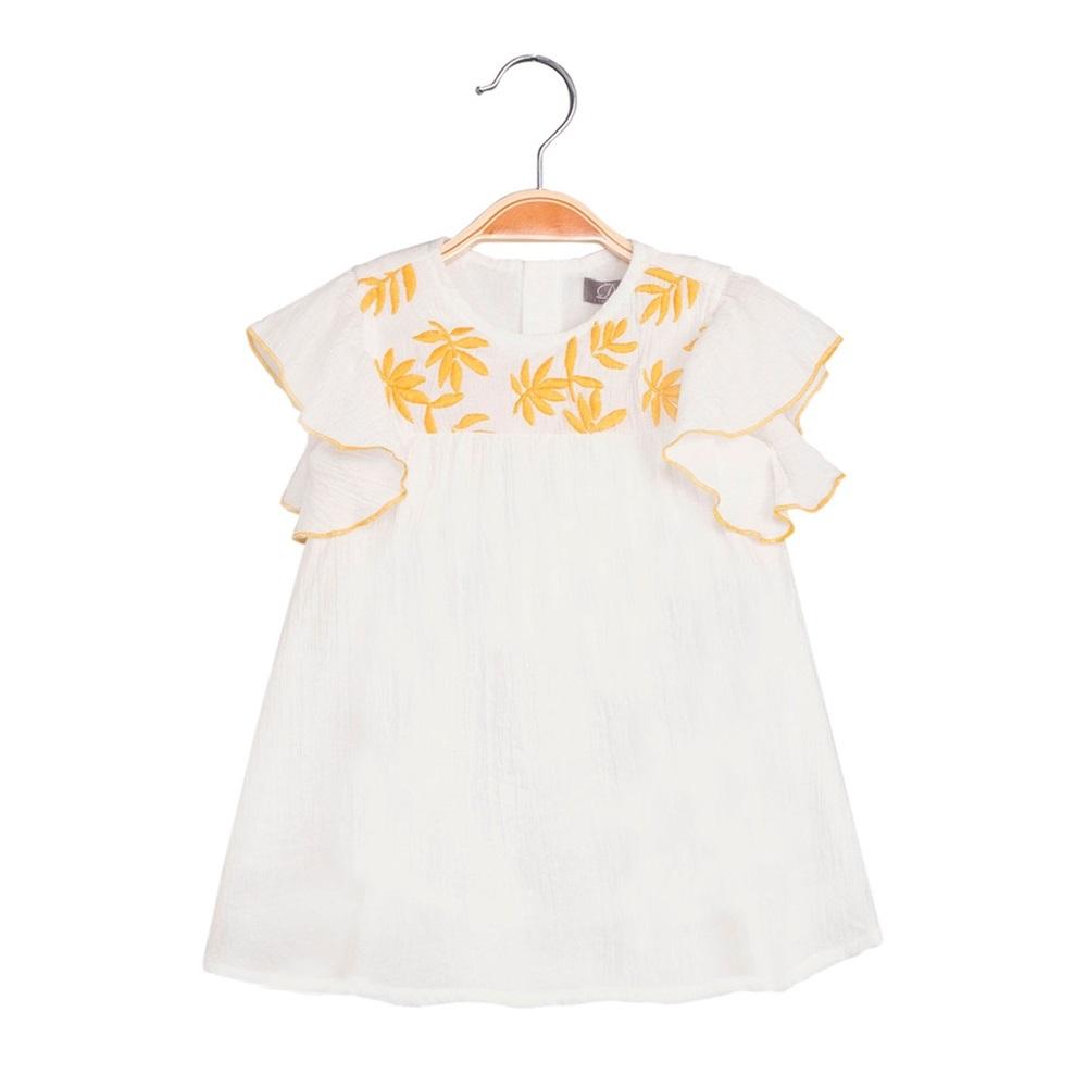 Imagen de Vestido de bebé niña en blanco con bordado