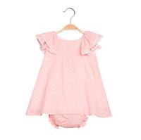 Imagen de Vestido de bebé niña en rosa claro con braguita