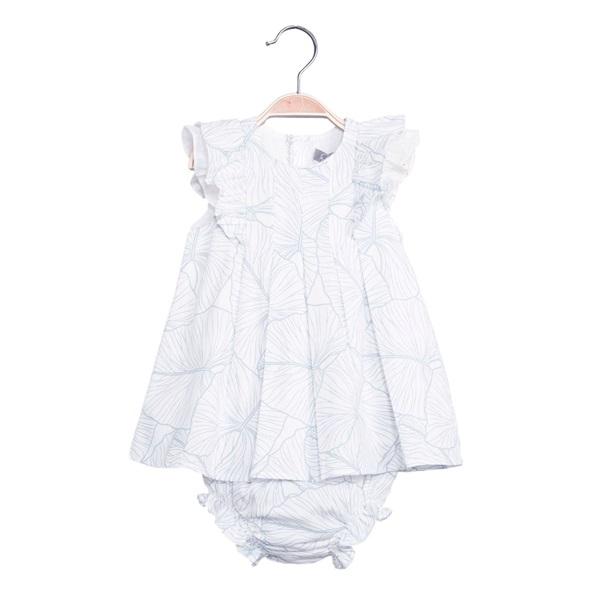 Image de Vestido de bebé niña estampado con braguita