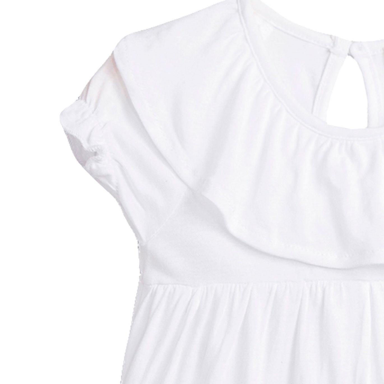 Picture of Camiseta de bebé niña en blanco con volante