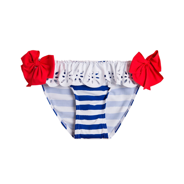 Imagen de Culetín de niña con rayas marineras y lazos