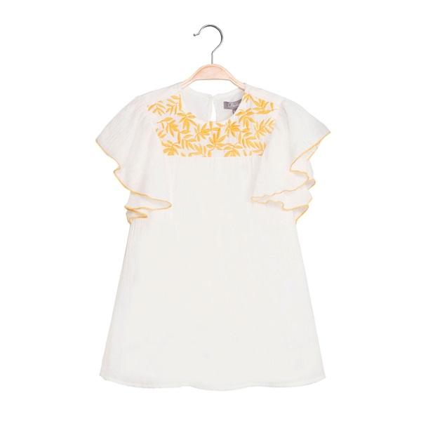 Image de Vestido de niña en blanco con bordado