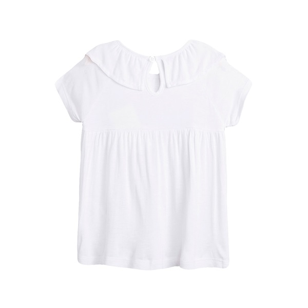 Imagen de Camiseta de niña en blanco con volante