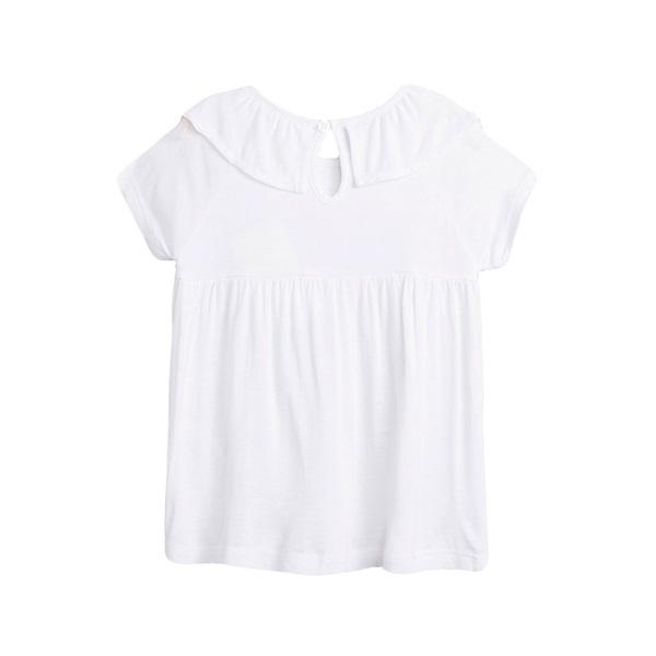 Image de Camiseta de niña en blanco con volante