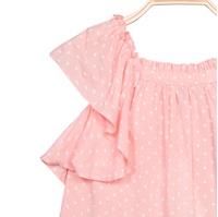 Picture of Blusa de niña en rosa claro con topos