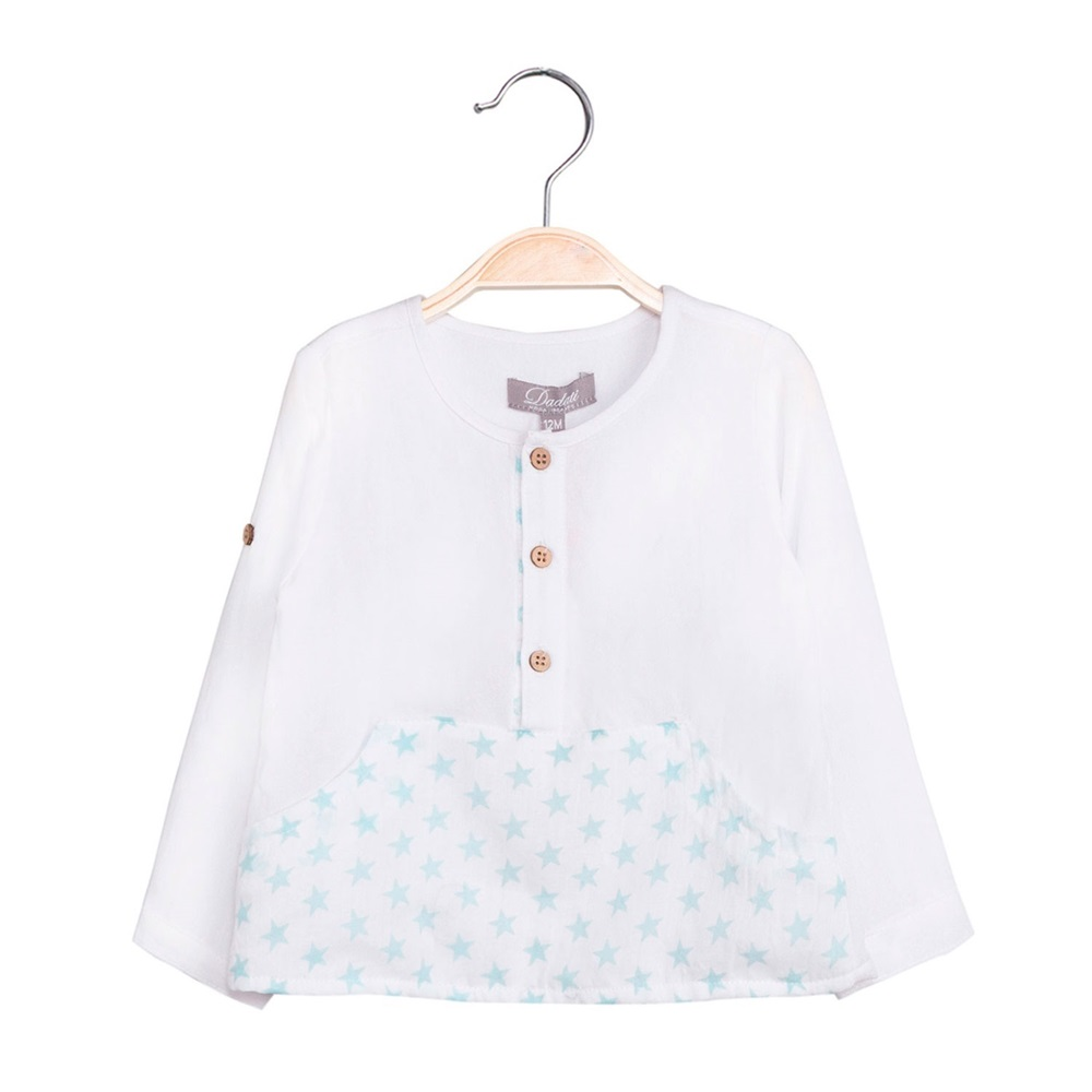 Imagen de Camisa de bebé niño con print estrellas y manga larga