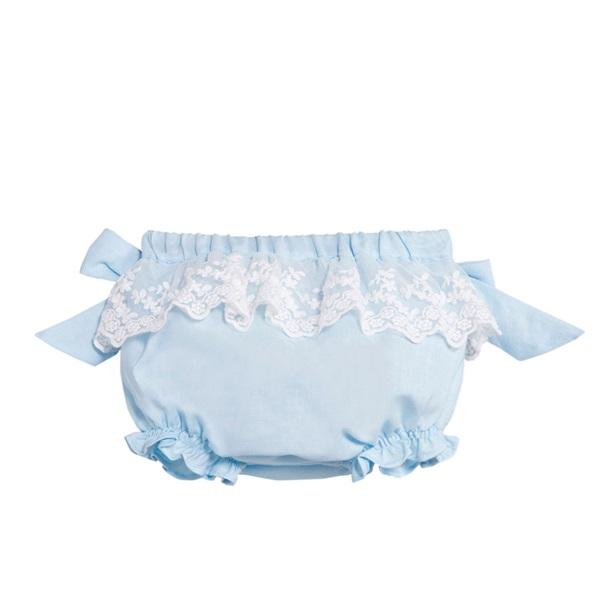 Image de Ranita de bebé niña en azul claro con encaje