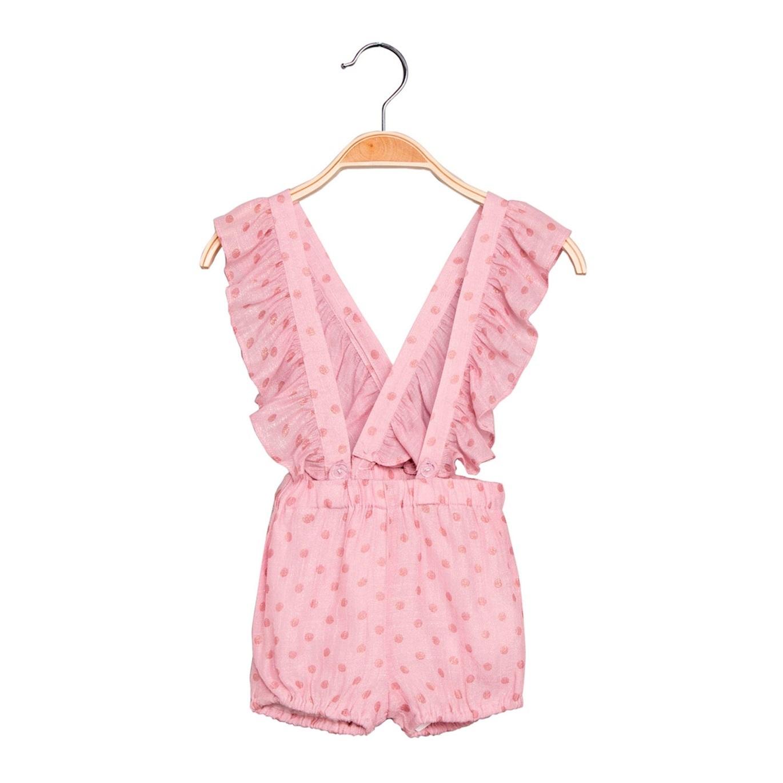 0881e3d5e Short de bebé niña en rosa con tirantes. Dadati - Moda infantil