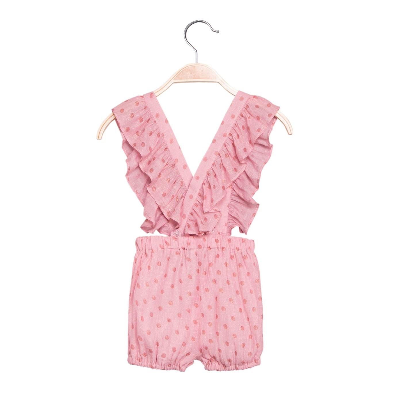 Imagen de Short de bebé niña en rosa con tirantes