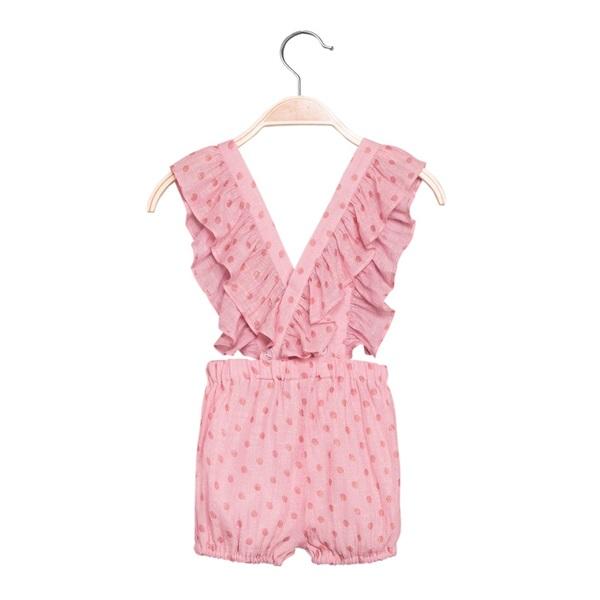 Picture of Short de bebé niña en rosa con tirantes