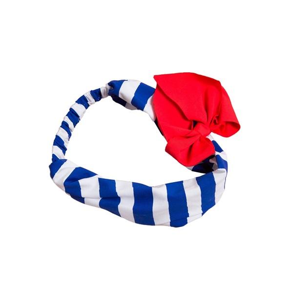 Imagen de Turbante de rayas marineras con lazo