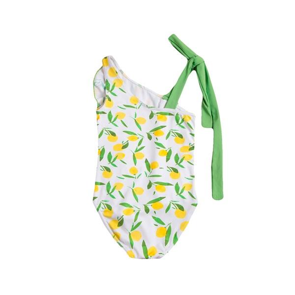 Imagen de Bañador de niña con estampado de limones y volante