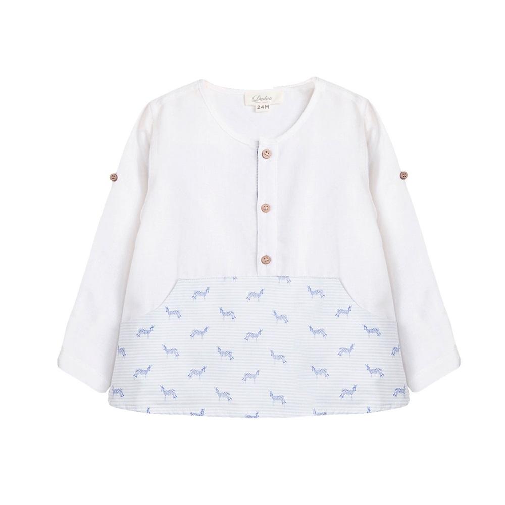Imagen de Camisa de bebé niño con estampado de cebras y manga larga