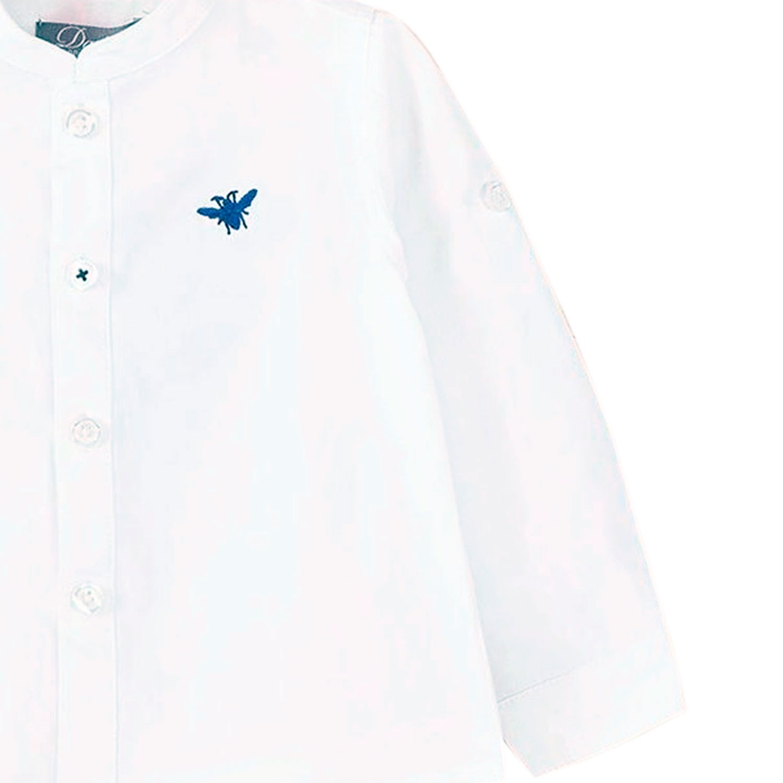 5ff8ca0aa Camisa de bebé niño en blanco y manga larga. Dadati - Moda infantil