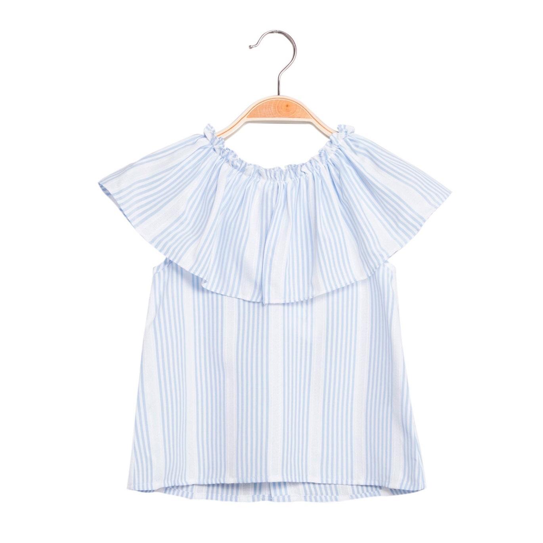 89dfbeb5d Blusa de niña de rayas con volante. Dadati - Moda infantil