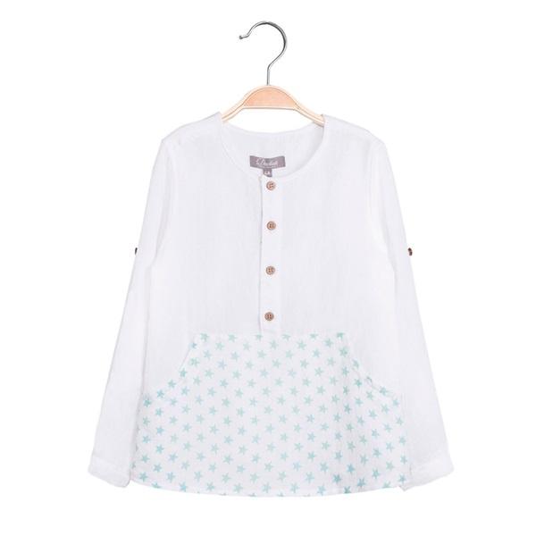 Image de Camisa de niño con print estrellas y manga larga