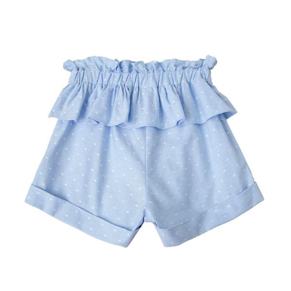 Imagen de Short de niña en azul claro con topos