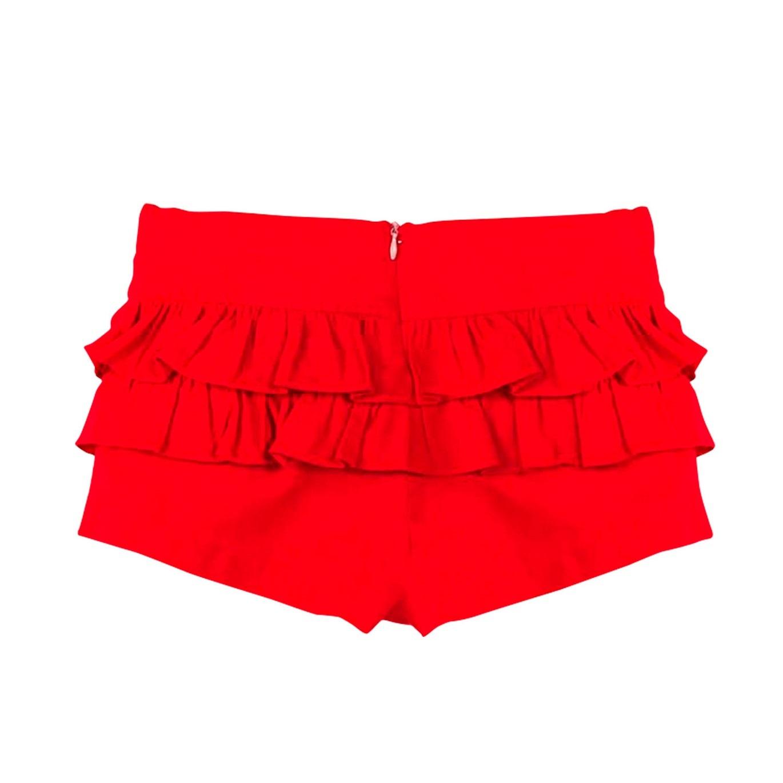 Imagen de Short de niña en rojo con volantes