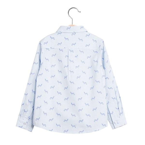 Image de Camisa de niño con estampado de cebras y manga larga