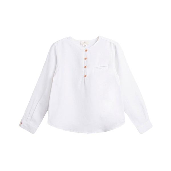 Imagen de Camisa de niño en blanco y manga larga