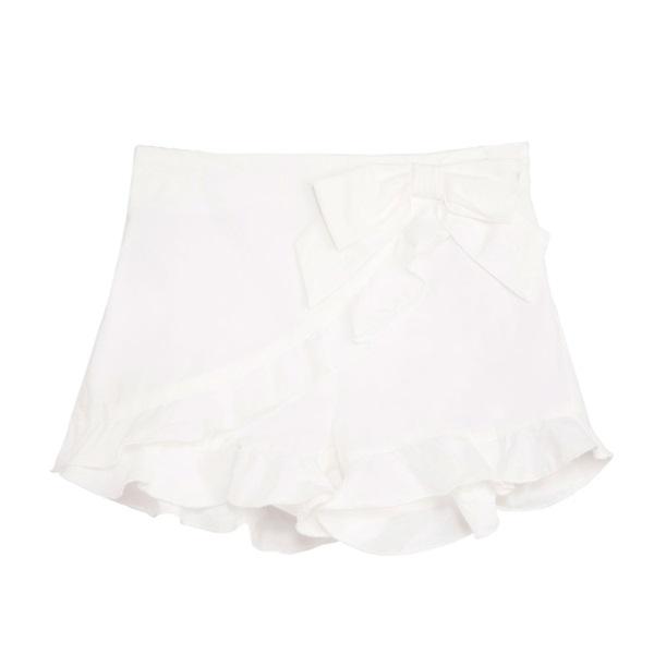 Image de Falda pantalón de niña en blanco con volante