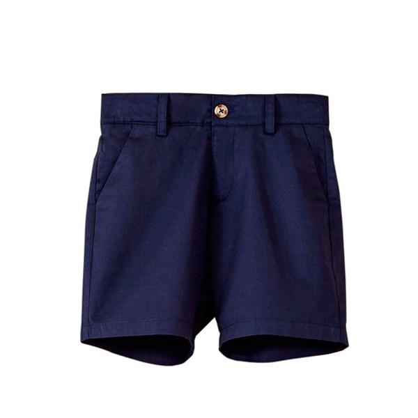 Image de Bermuda de niño en azul marino con bolsillos