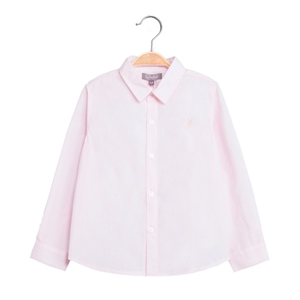 Image de Camisa de niño en rosa y manga larga
