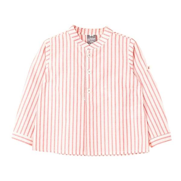 Imagen de Camisa de bebé niño con rayas rojas y manga larga