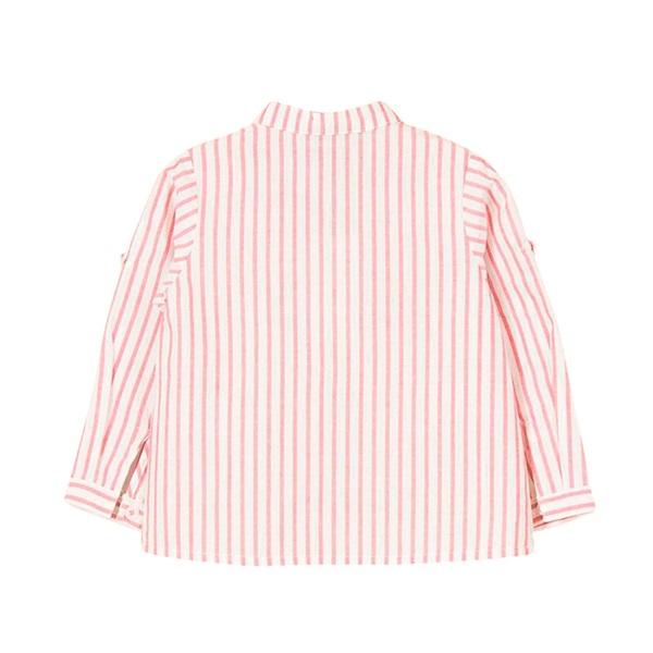 Picture of Camisa de bebé niño con rayas rojas y manga larga