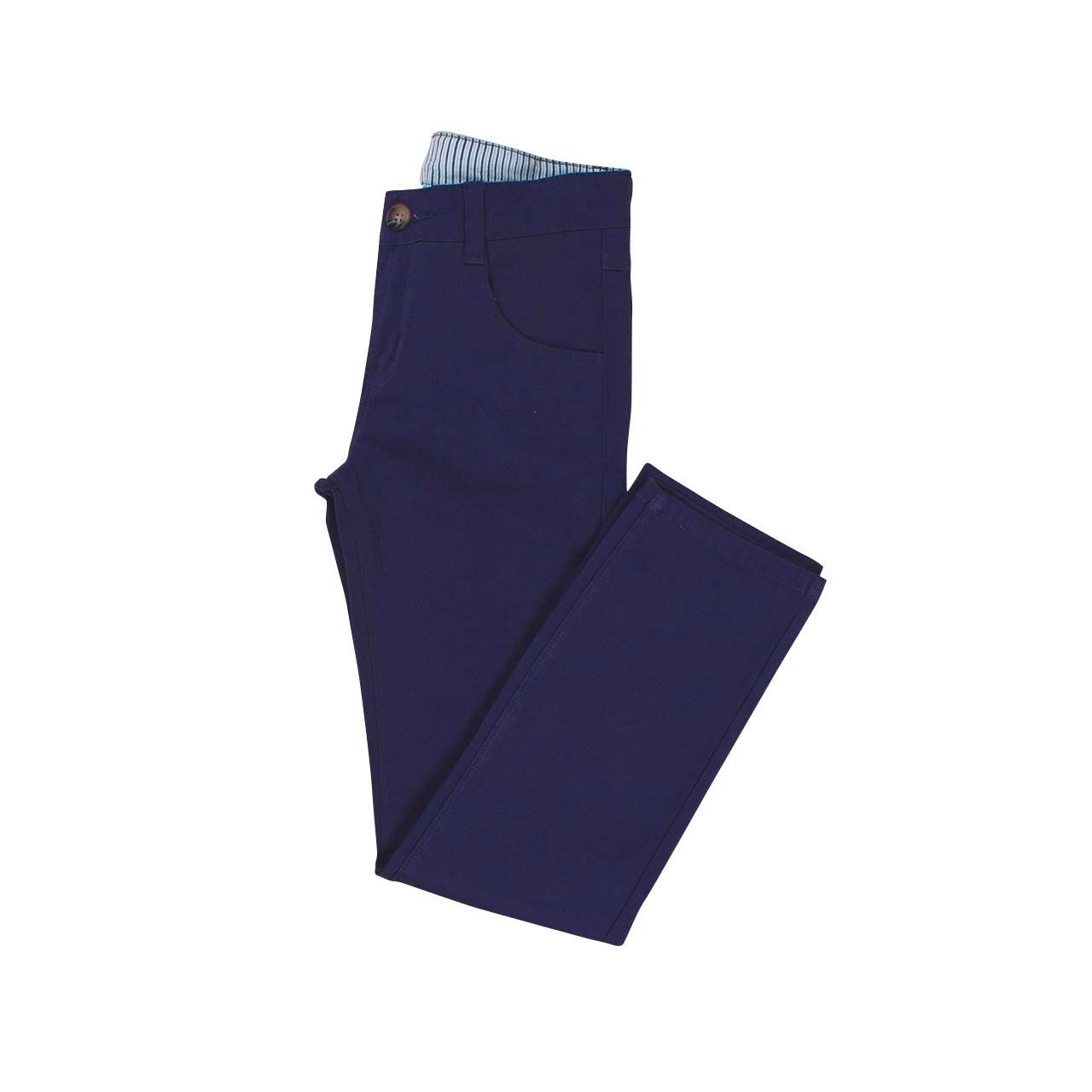 Image sur Pantalón largo azul niño