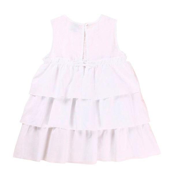 Image de Vestido de niña en blanco con volantes