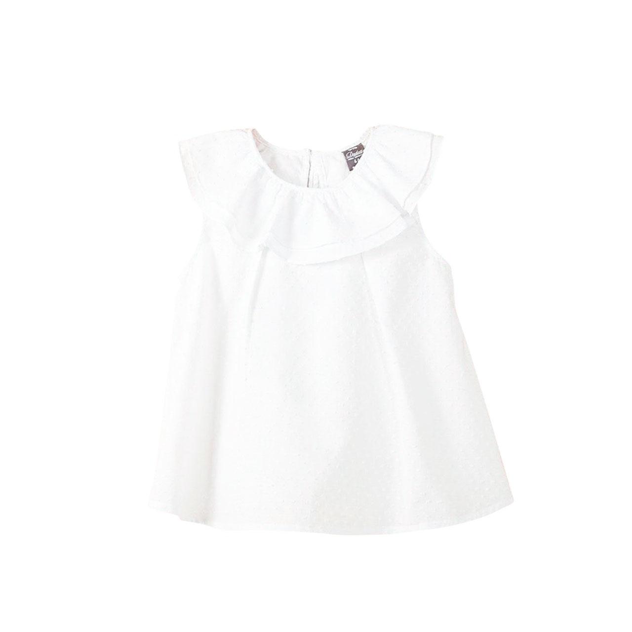 7c11dfe0a Blusa de bebé niña plumeti en blanco. Dadati - Moda infantil