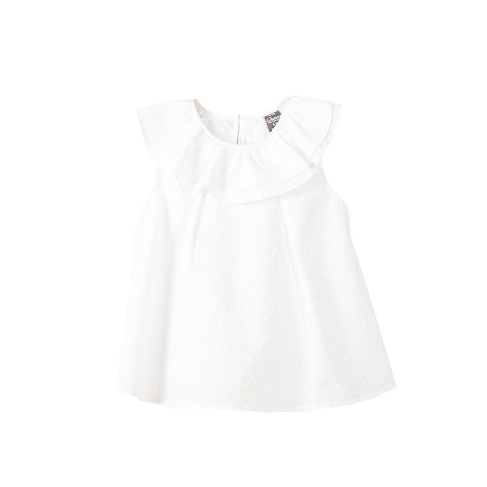 Picture of Blusa de bebé niña plumeti en blanco