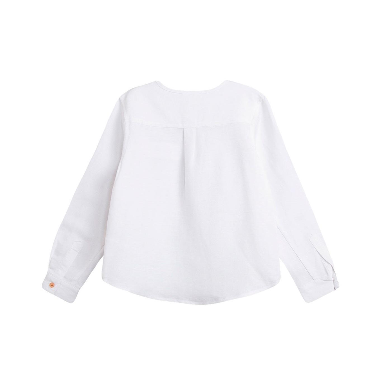 Image sur Camisa de bebé niño en blanco y manga larga