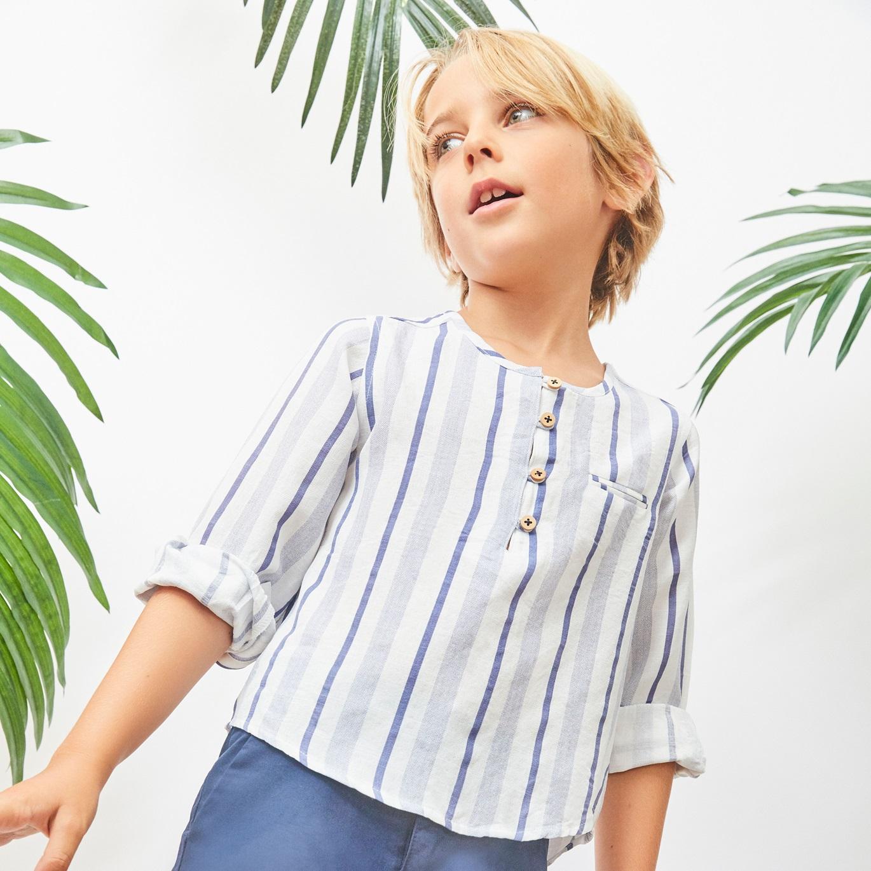 Picture of Camisa de niño de rayas y manga larga