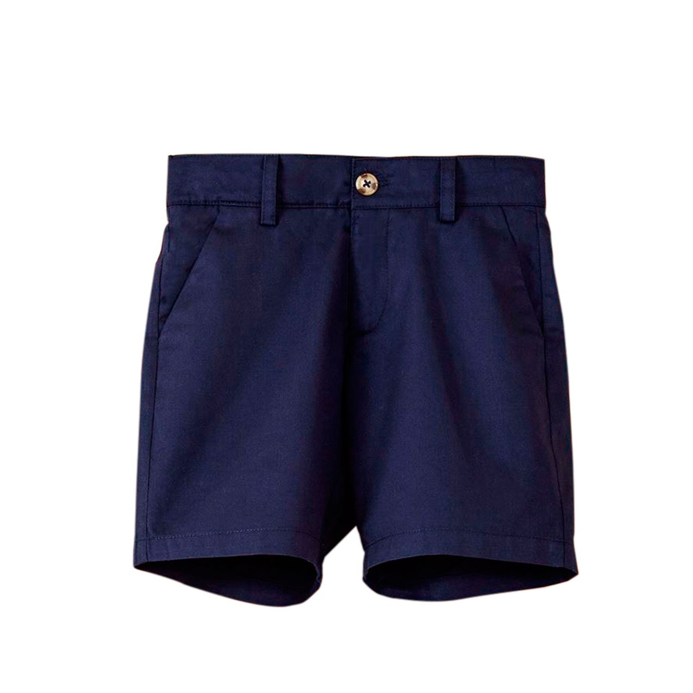 Image sur Bermuda de niño en azul marino con bolsillos